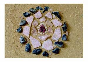 Rugengraat van rozenkwarts