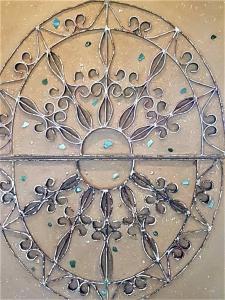 wandjuweel sterrenregen door stalraam
